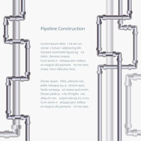 Résumé de fond verticale avec pipeline plat conçu.