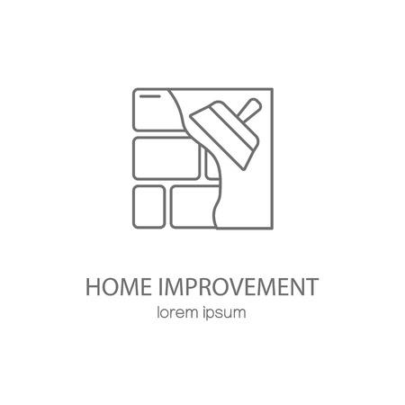 mejoras para el hogar plantillas de diseño logotipo. Moderna fácil de editar plantilla de logotipo. vector logo Línea de diseño. Logos