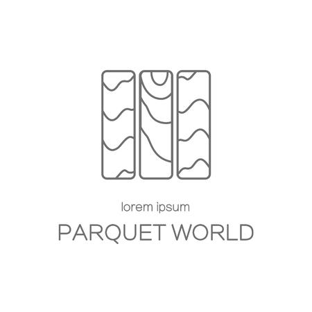 wood floor: Wood floor or parquet icon logotype design templates. Modern easy to edit logo template. Vector logo design series.