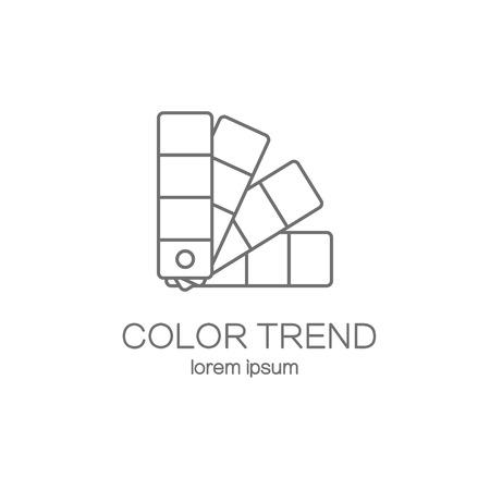 Farbpalette Leitfaden Logo-Design-Vorlagen. Moderne einfache Logo-Vorlage zu bearbeiten. Vector Logo-Design-Serie.