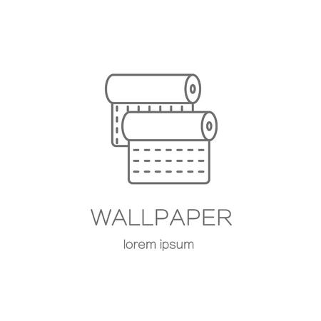 paperhanging: Wallpaper DIY shop logotype design templates. Modern easy to edit logo template. Vector logo design series.