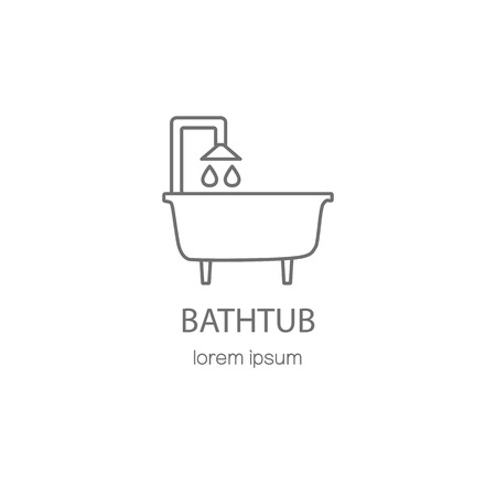 sanitary engineering: Bathtub and sanitary logotype design templates. Modern easy to edit logo template. Vector logo design series.