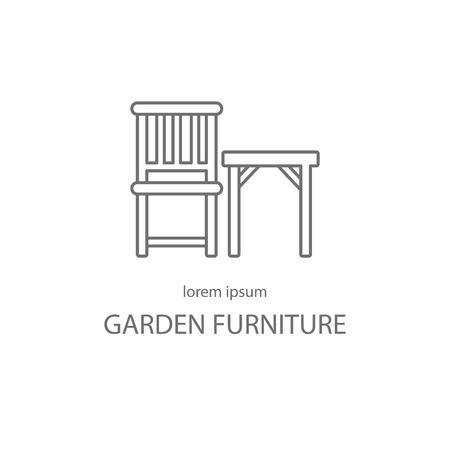 patio furniture: Garden furniture logotype design templates. Modern easy to edit logo template. Vector logo design series. Illustration
