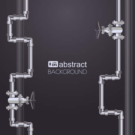 oil pipeline: Abstract vertical background with flat designed pipeline. Concept for web newsletters water, wastewater or oil pipeline industry.