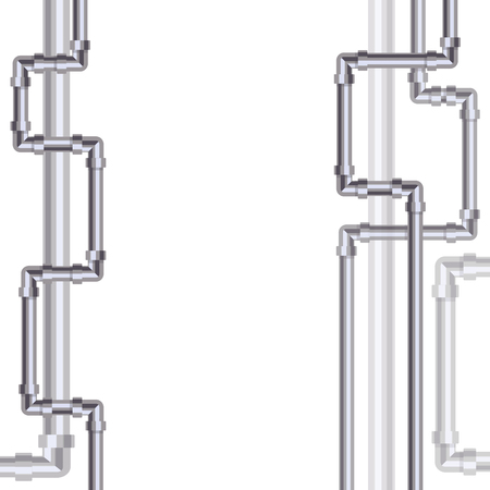 Abstract vertical background with flat designed pipeline. Illustration