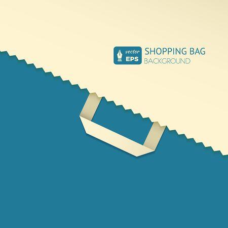 Platte ontwerp vectorillustratie met boodschappentas. Concept achtergrond voor nieuwsbrieven online winkels, websites banners van winkelen, korting, e-commerce, online winkelen, verkoop.