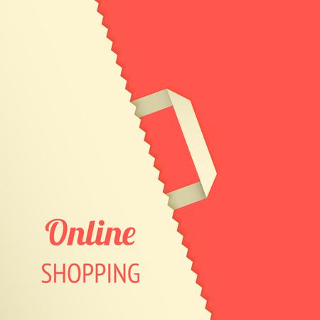 Flat design illustration with shopping bag