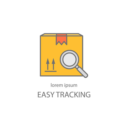 tracking: Cargo tracking design templates Illustration