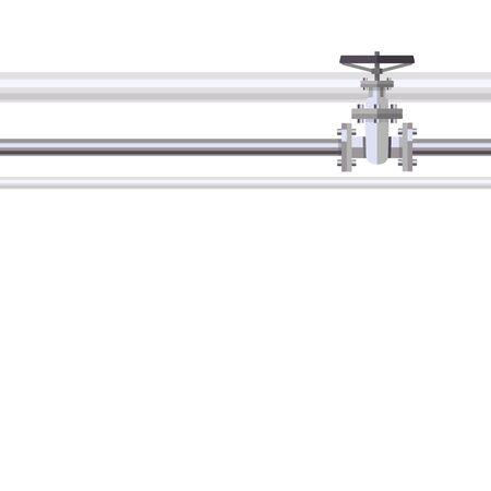Resumen de fondo con plana diseñada tubería y válvula en la tubería. Concepto para boletines web del agua, aguas residuales o la industria oleoducto.