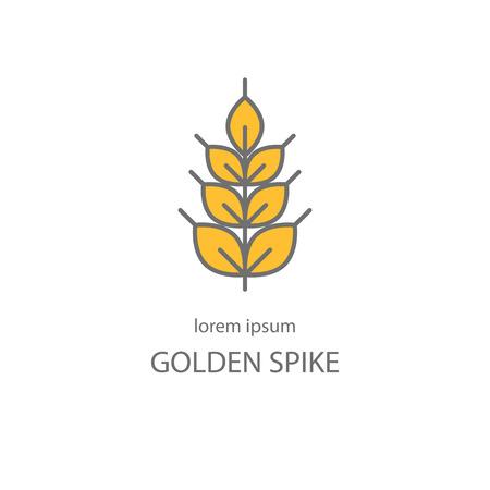 estilo de línea con trigo punto de oro