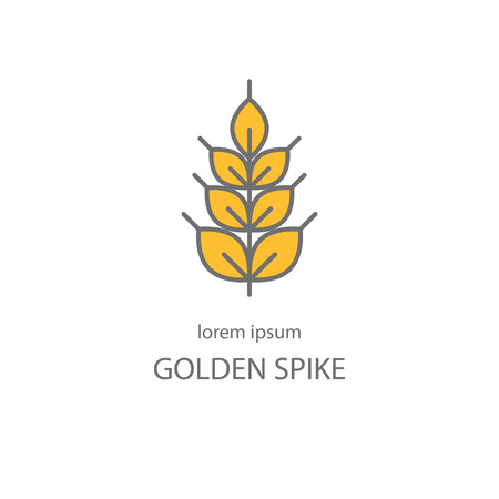 Line style with wheat golden spike