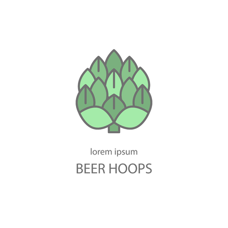 Hop craft beer. Label, emblem or badge template.