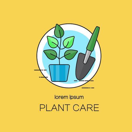 plantillas de diseño para el cuidado de las plantas.