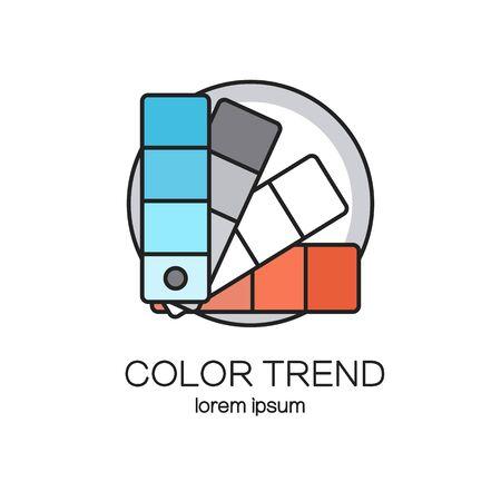 Color palette guide design templates. Modern easy to edit template. Vector design series. Foto de archivo