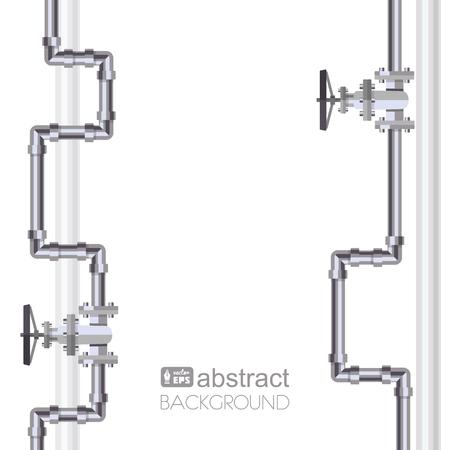 Fondo vertical abstracto con la tubería diseñada plana. Concepto para boletines web del agua, aguas residuales o la industria oleoducto. Ilustración del vector. Vectores