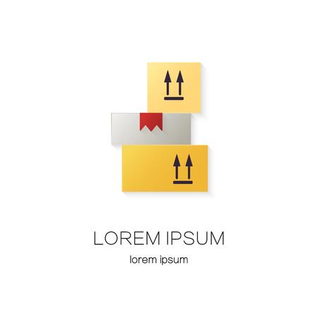 cajas de carga de diseño de logotipo