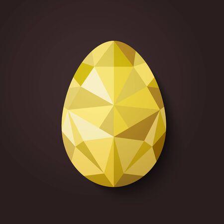 polígono diseño plano de los huevos de oro aislado