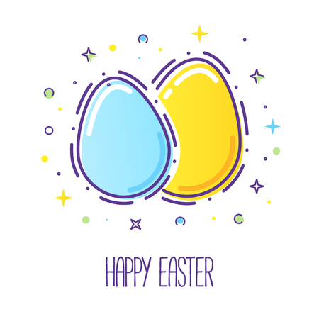 Happy easter card Vectores