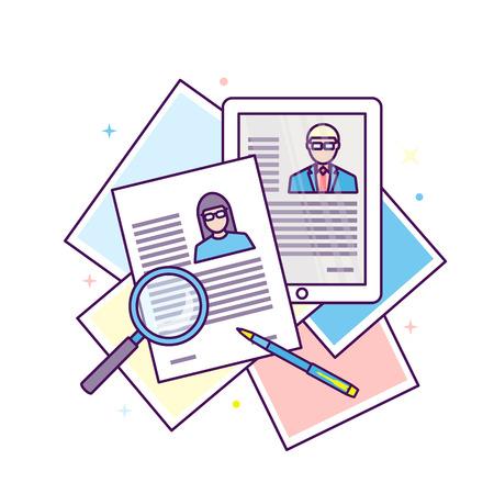 Curriculum vitae recruitment candidate job position.