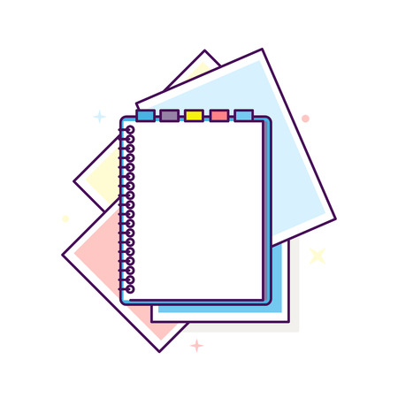note pad: Flat design notepad illustration