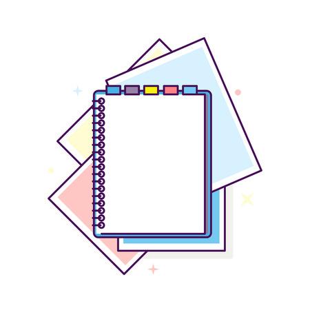 Ilustración de bloc de notas de diseño plano