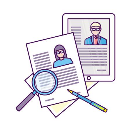 Bovenaanzicht van de werkplek met documenten.