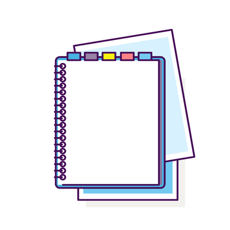 Flat design notepad Ilustrace