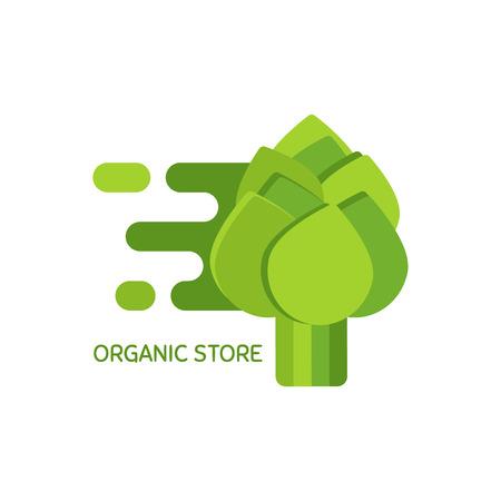 Vector logo voor biologische winkel