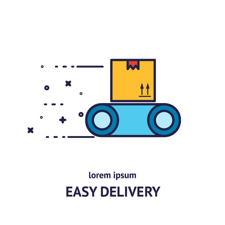 Delivery logotype design templates Illustration