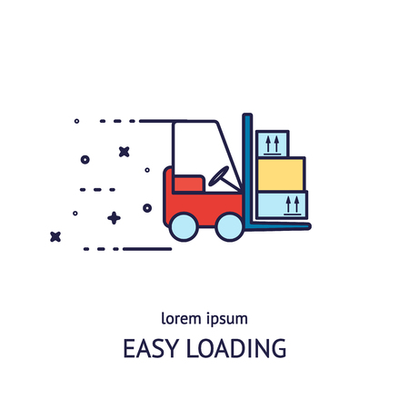 Cargo loader logotype design