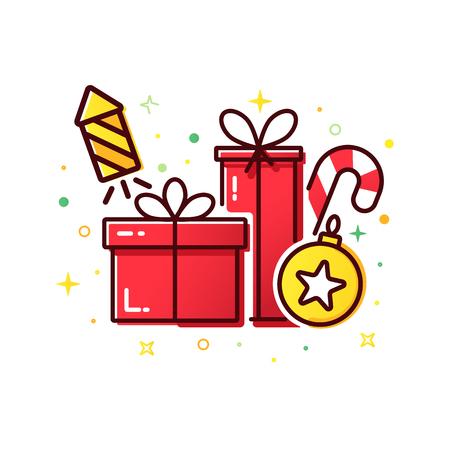 Cajas de regalo de Navidad roja