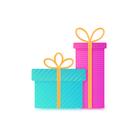 Gift boxes color vector icon, wish list concept