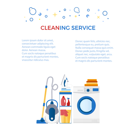 Cleaning service banner with logo for cleaning service