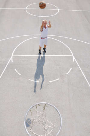Basketball player shooting photo