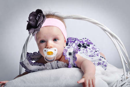 Portrait of beautiful baby girl photo