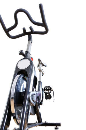Spinning bicycle on a white background Banque d'images