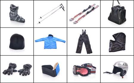 Ski equipment. Necessary things for skiing.