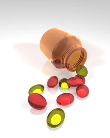medicine capsules tablets pills drugs Stock Photo