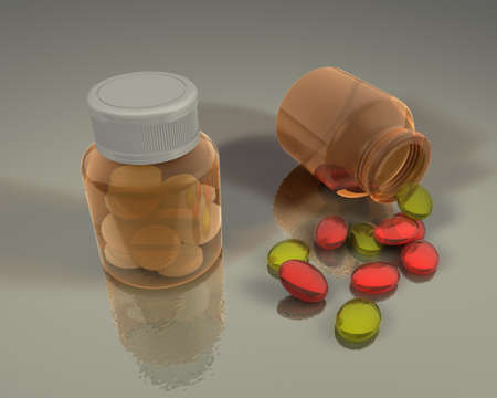 medicine capsules tablets pills drugs Stock Photo