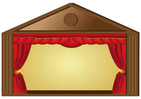 Theatre performance or cinema curtains Illustration