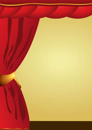 theatre performance: Theatre performance or cinema curtains Illustration