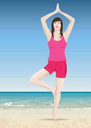 elongacion: yoga meditación Vectores