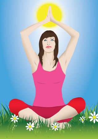 elongation: yoga meditation Illustration