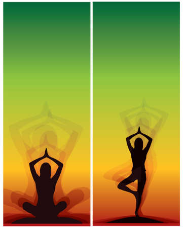 yoga meditation bookmarks, bookmark, banner Vector
