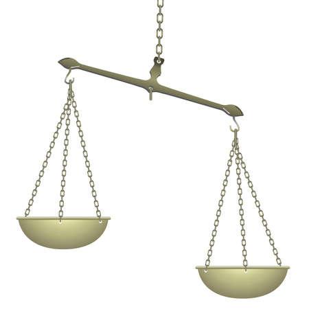 Balans voor voedsel dieet en rechtvaardigheid Vector Illustratie