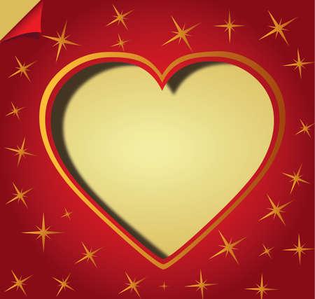 Valentine day red Love Hearts Illustration