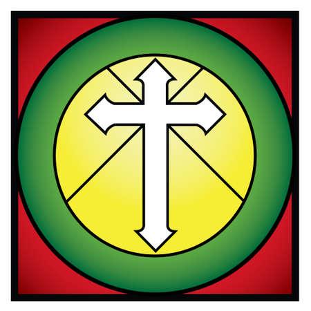 rood: cristian croos rood Illustration