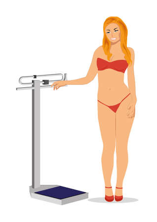 Balance for diet and model Vector