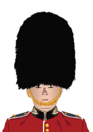 british Royal Guard Illustration