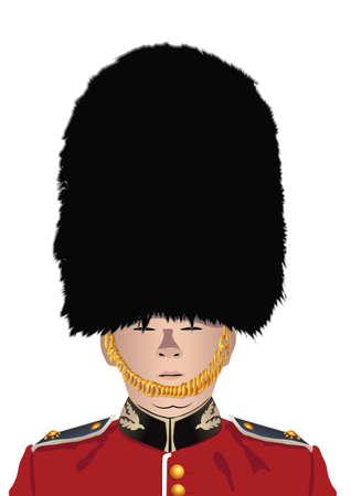 british army: british Royal Guard Illustration